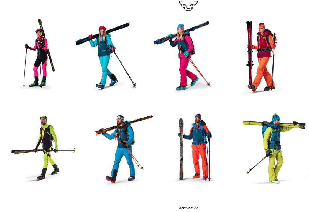 Do you wish your skis matched your boots, pants, jacket, poles, gloves and headband? Dynafit's got you covered.
