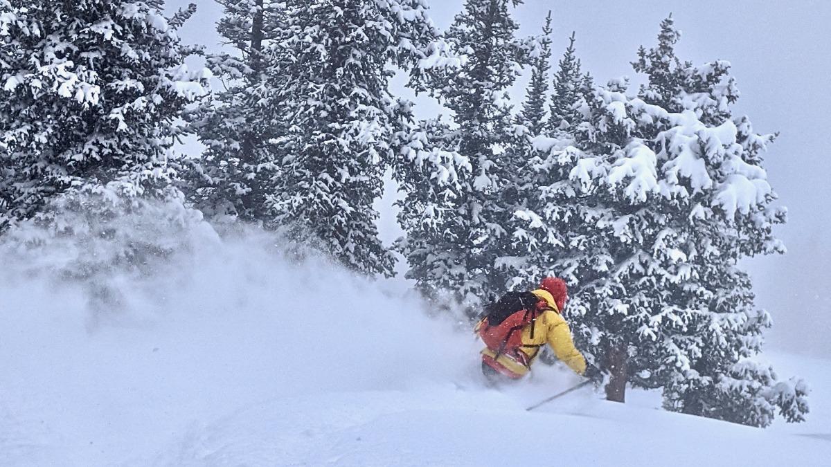 Atomic Backland 100 powder skiing
