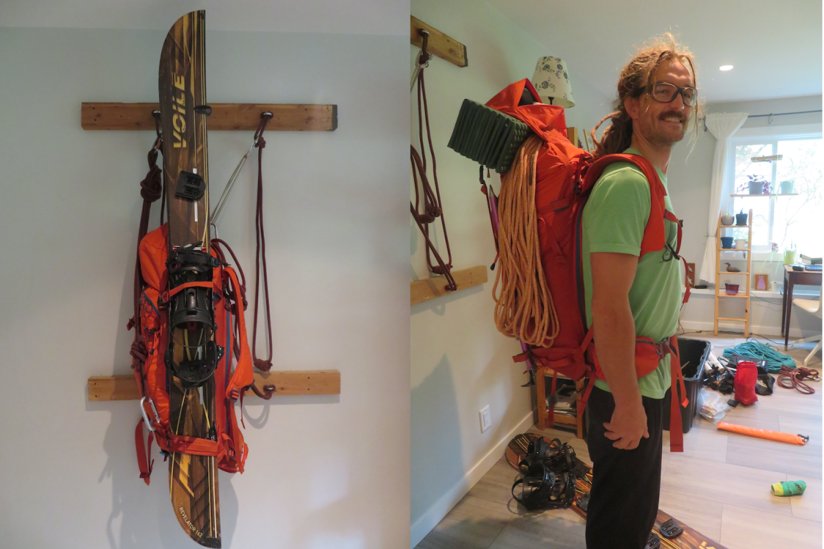 The pack holds a secure A-frame for skis or splitboard, and can handle heavier loads for longer days.