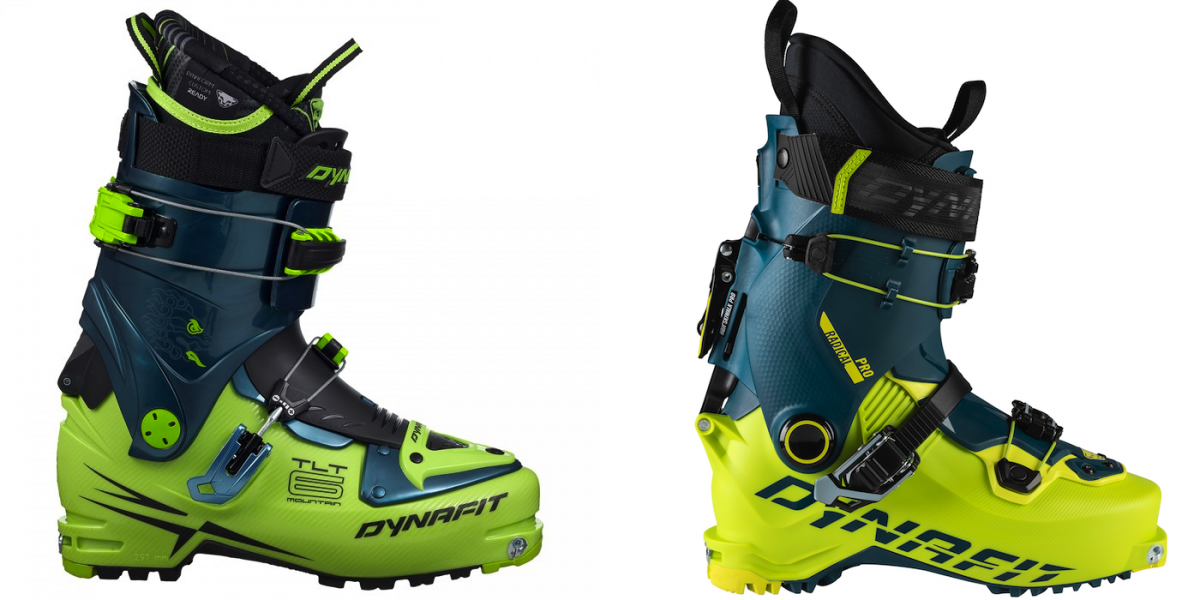 The TLT6 Performance CR on the left, the Radical Pro on the right. The Radical Pro isn't an update on this cult classic boot, but it looks pretty similar...