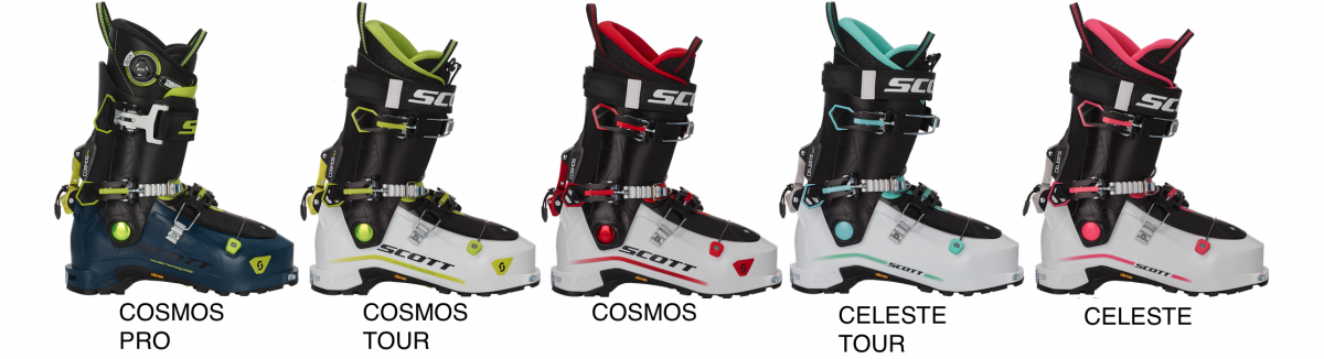 The full Scott Cosmos line up is a step away from the original Garmont design. The boots now feature a three buckle design, an extended range of motion, but the same wide forefoot shape in the shell.