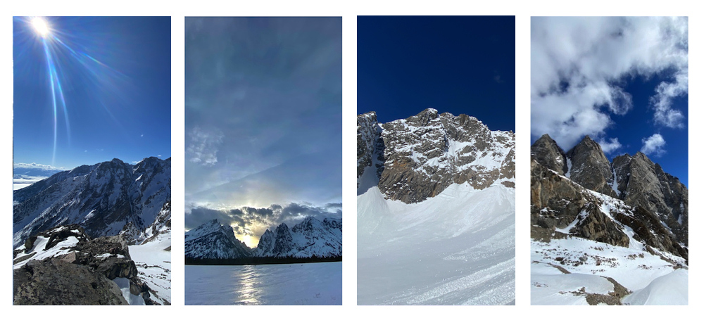 Here are some beautiful views of beautiful mountain landscapes during our time in the backcountry. Sometimes it's not about how much vert you logged or how many double-pole-plant hop-turns you scored. Sometimes it's about time spent and awe inspired in these stunning landscapes.